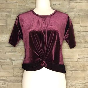 Design Lab by Lord & Taylor burgundy velvet top